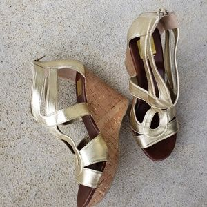 DOLCE VITA FOR TARGET Gold Sandals with cork wedge